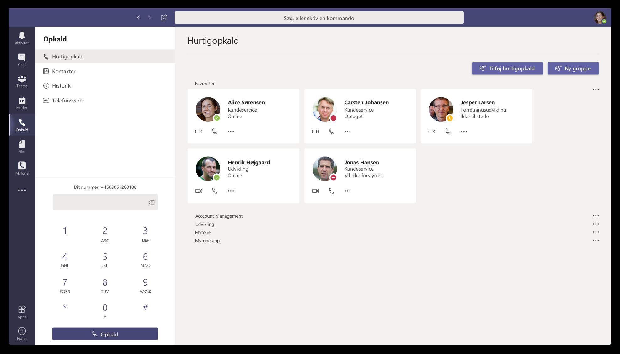 Flexfone, Microsoft Teams, myfone